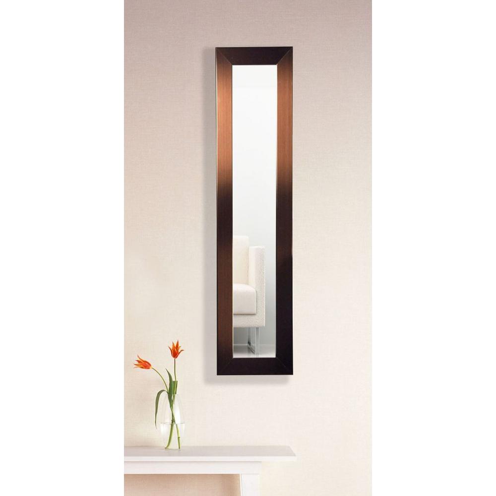 9.5 in. x 27.5 in. Shiny Bronze Vanity Mirror Panel