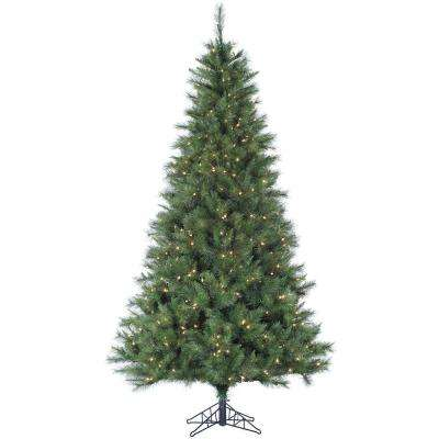6.5 ft. Pre-lit LED Canyon Pine Artificial Christmas Tree with 400 Clear Lights
