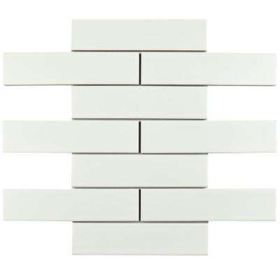 Metro Soho Matte White 1-3/4 in. x 7-3/4 in. Porcelain Floor and Wall Subway Tile (16 sq. ft. / case)