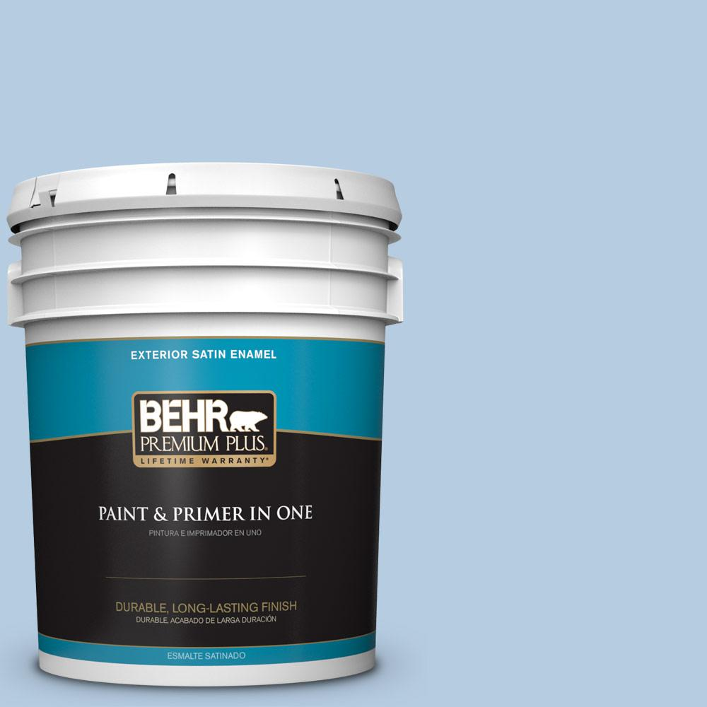 5 gal. #PPU14-14 Crystal Waters Satin Enamel Exterior Paint
