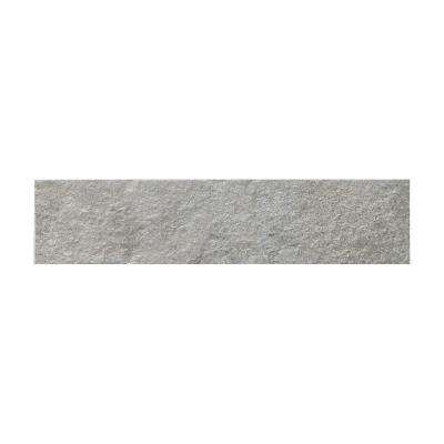 Metaphor Silver Matte 2.76 in. x 11.81 in. Porcelain Floor and Wall Tile (11.3 sq. ft. / case)