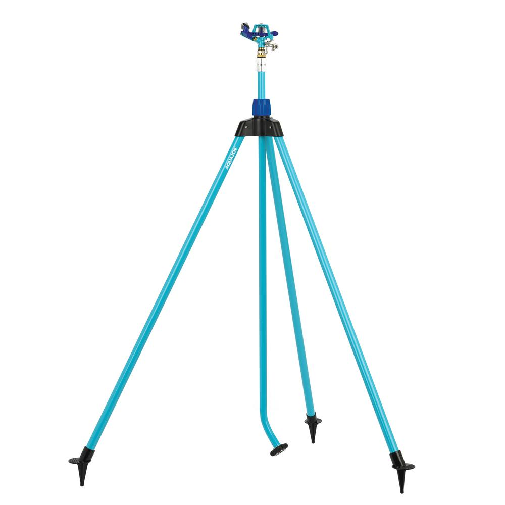 AQUA JOE Indestructible Zinc Impulse 360° Telescoping Tripod Sprinkler
