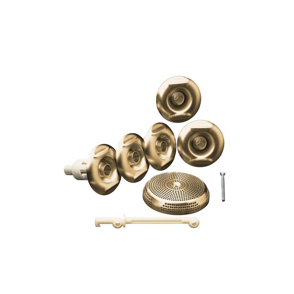 KOHLER Flexjet Whirlpool Trim Kit with Five Jets in Vibrant Brushed Bronze