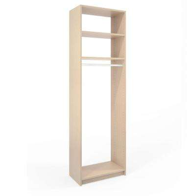 14 in. D x 24 in. W x 84 in. H Chai Latte Wood Medium Hanging Closet System
