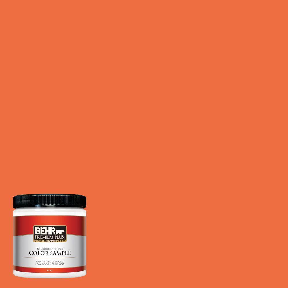 BEHR Premium Plus 8 oz. #210B-6 Aurora Orange Interior/Exterior Paint Sample