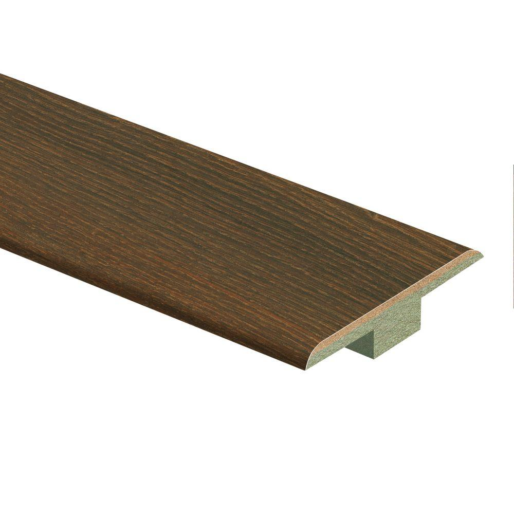 Zamma Bronze Oak/Farmington Oak 7/16 in. Thick x 1-3/4 in. Wide x 72 in. Length Laminate T-Molding