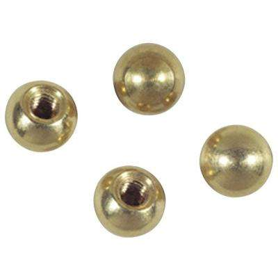 Four 3/8 in. Solid Brass Cap Nuts