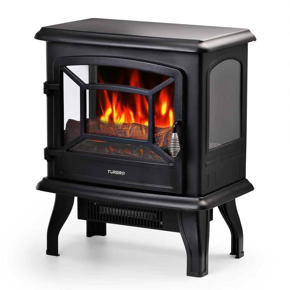 turbro suburbs 20 in 1400 watt electric fireplace stove infrared rh homedepot com