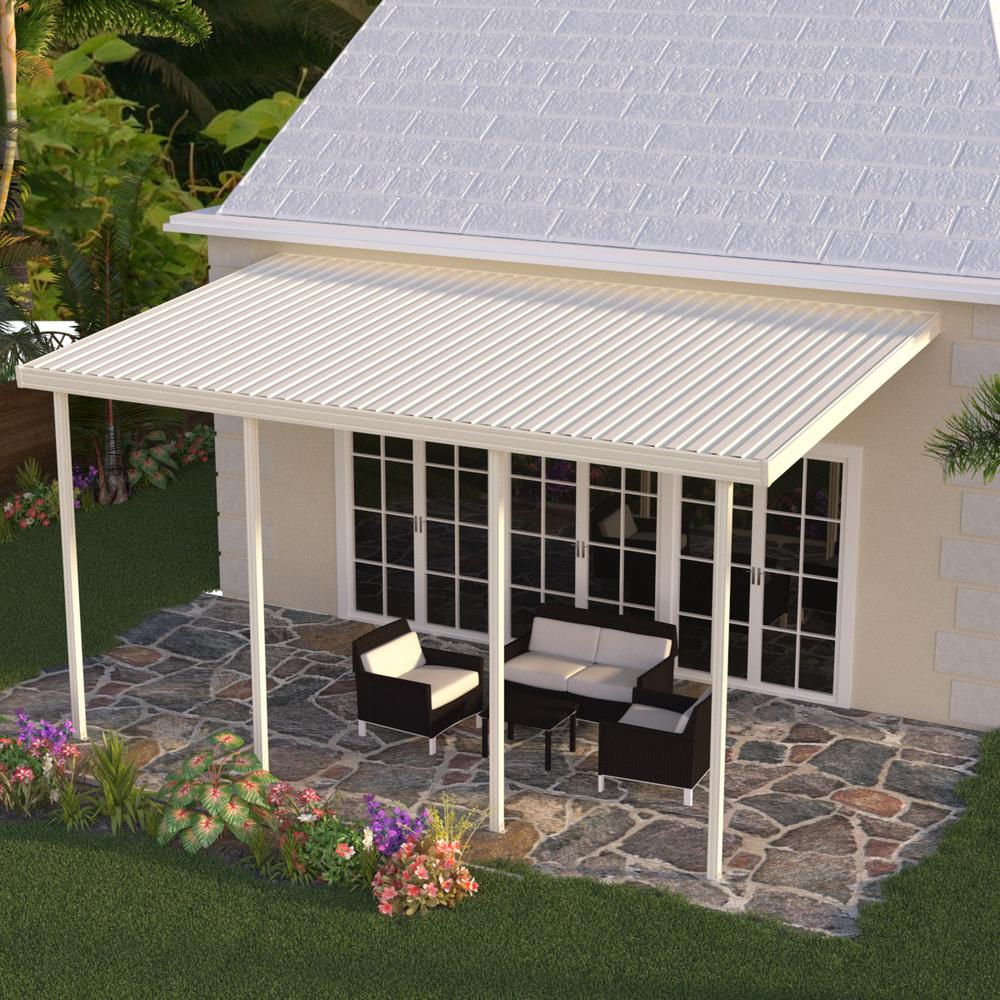 Integra 22 Ft X 10 Ft Ivory Aluminum Attached Solid
