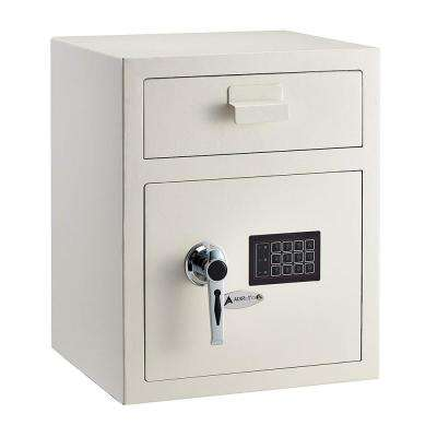 1.1 cu. ft. Steel Digital Depository Safe with Digital keypad, White