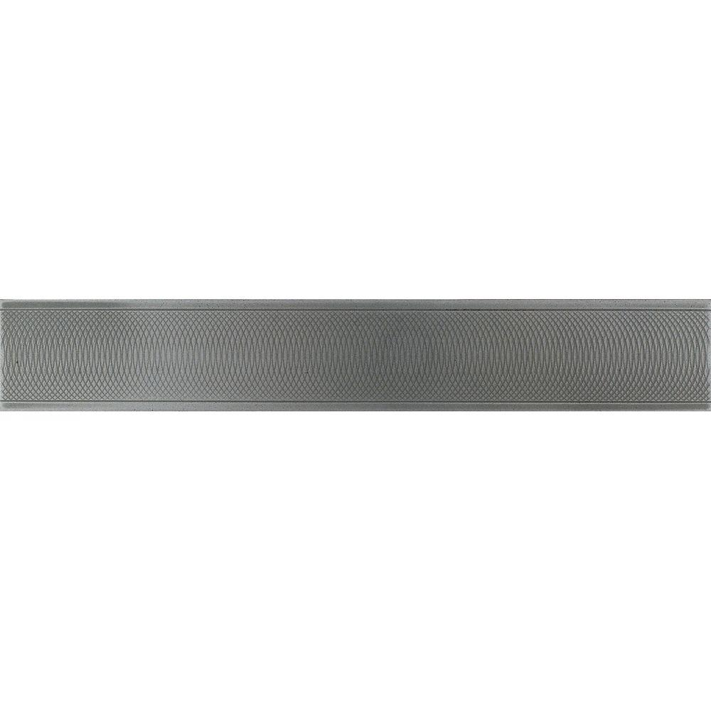Urban Metals Stainless 2 in. x 12 in. Composite Spiral Border