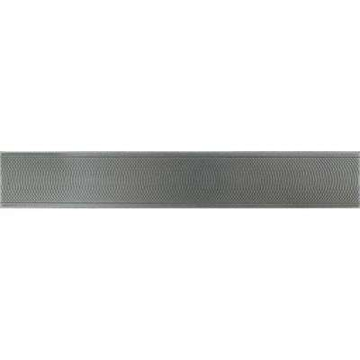 Urban Metals Stainless 2 in. x 12 in. Composite Spiral Border Trim Floor and Wall Tile