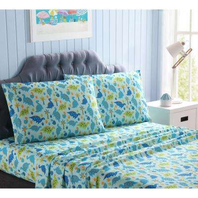 3-Piece Baby Dinosaurs Twin Sheet Set
