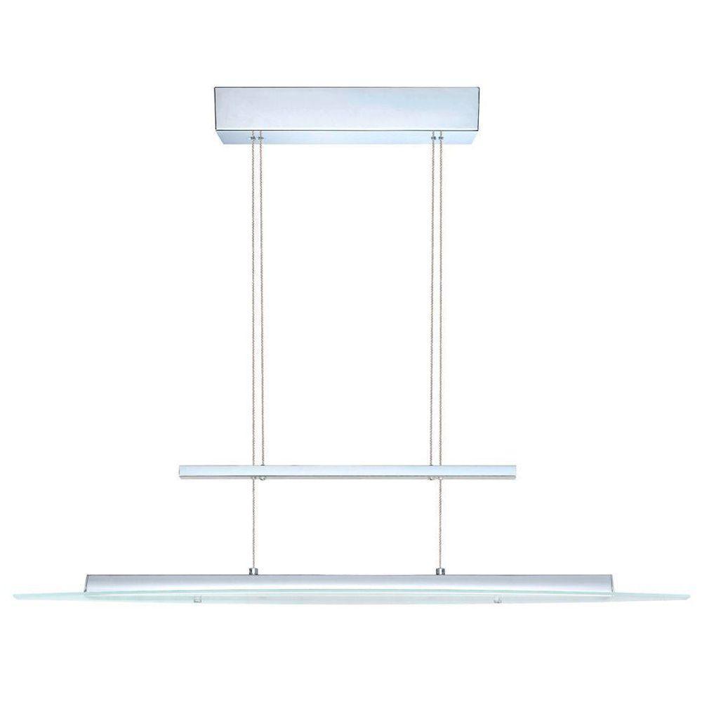 null Rufo 1-Light Chrome and White Integrated LED Ceiling Pendant