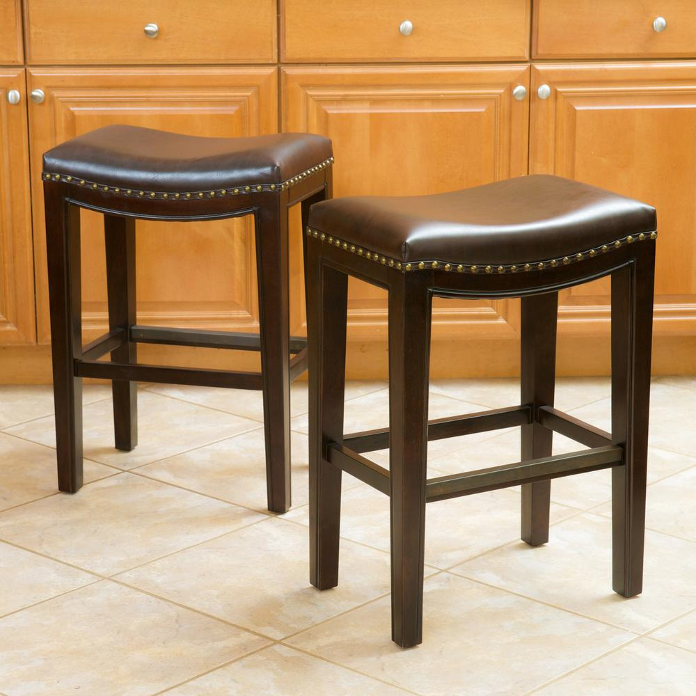 Noble House Avondale 26 in. Brown Backless Counter Stool (Set of 2) was $167.3 now $115.14 (31.0% off)