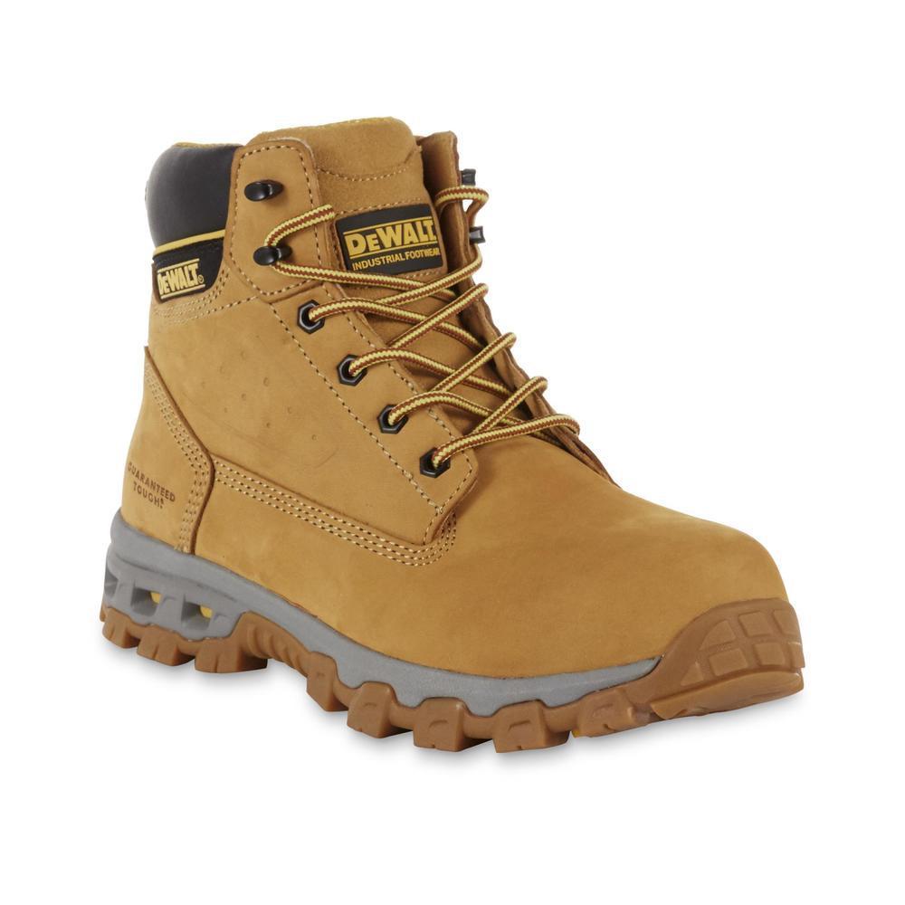 DEWALT Men's Halogen 6'' Work Boots - Steel Toe - Wheat Size 9.5(M)