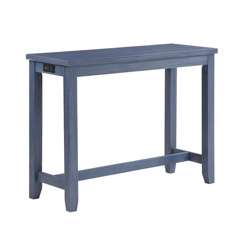 Furniture Of America Dremmend 3 Piece Blue Counter Height Table Set Idf3474blpt 3pk The Home Depot