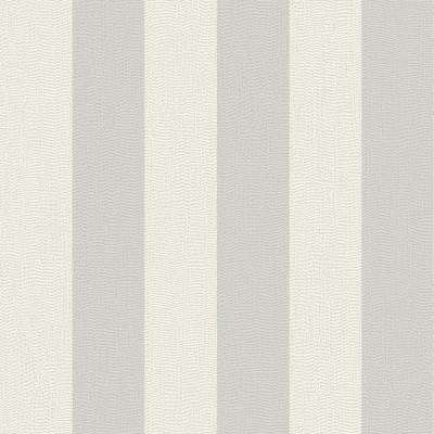 Evita Water Silk Stripe Light Silver/Silver Wallpaper Sample