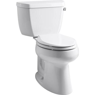 Highline Classic 2-Piece 1.0 GPF Single Flush Elongated Toilet in White