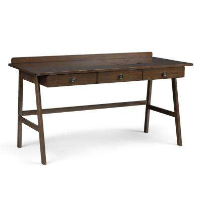60 in. Rylie Natural Aged Brown Solid Wood Wide Desk