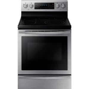Click here to buy Samsung 30 inch 5.9 cu. ft. Flex Duo Double Oven Electric Range with Self-Cleaning Dual Convection Oven in Stainless Steel by Samsung.