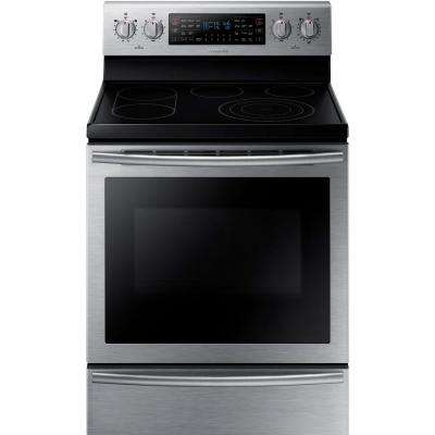 30 in. 5.9 cu. ft. Flex Duo Double Oven Electric Range with Self-Cleaning Dual Convection Oven in Stainless Steel