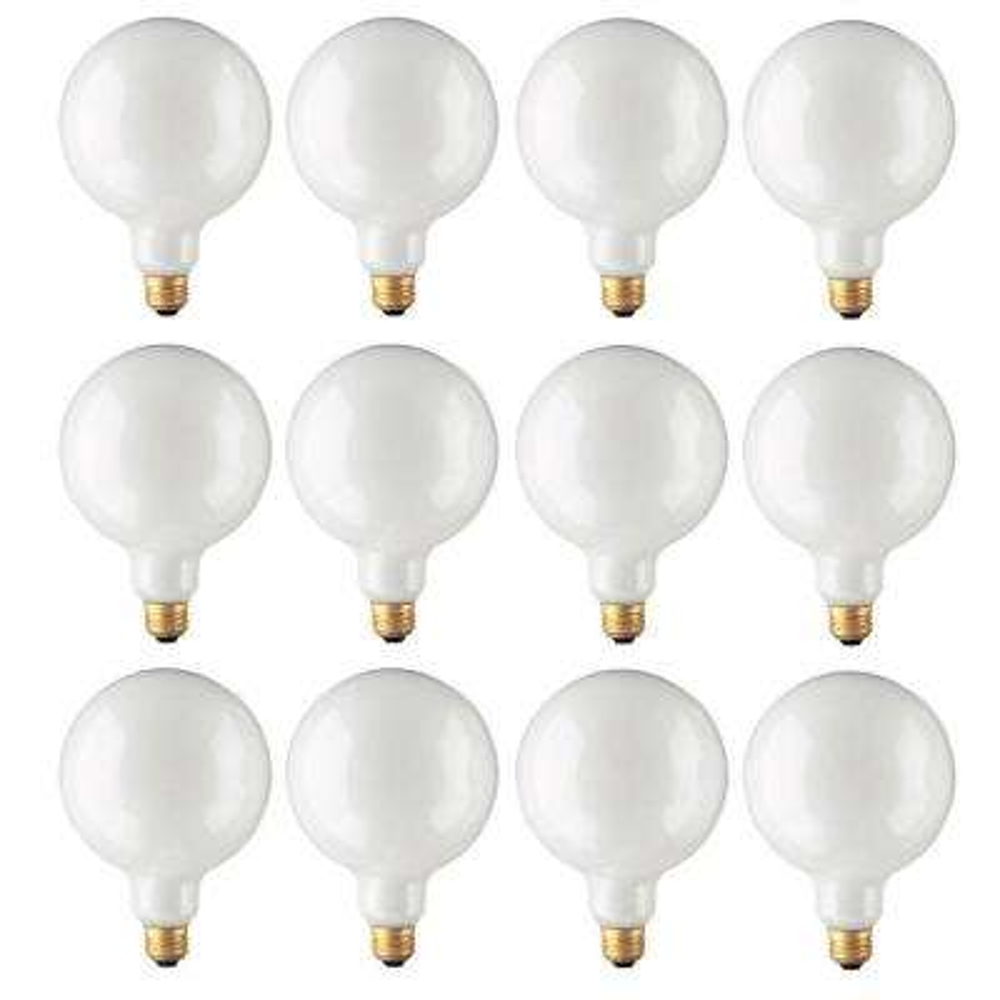 60-Watt G40 White Dimmable Warm White Light Incandescent Light Bulb (12-Pack)