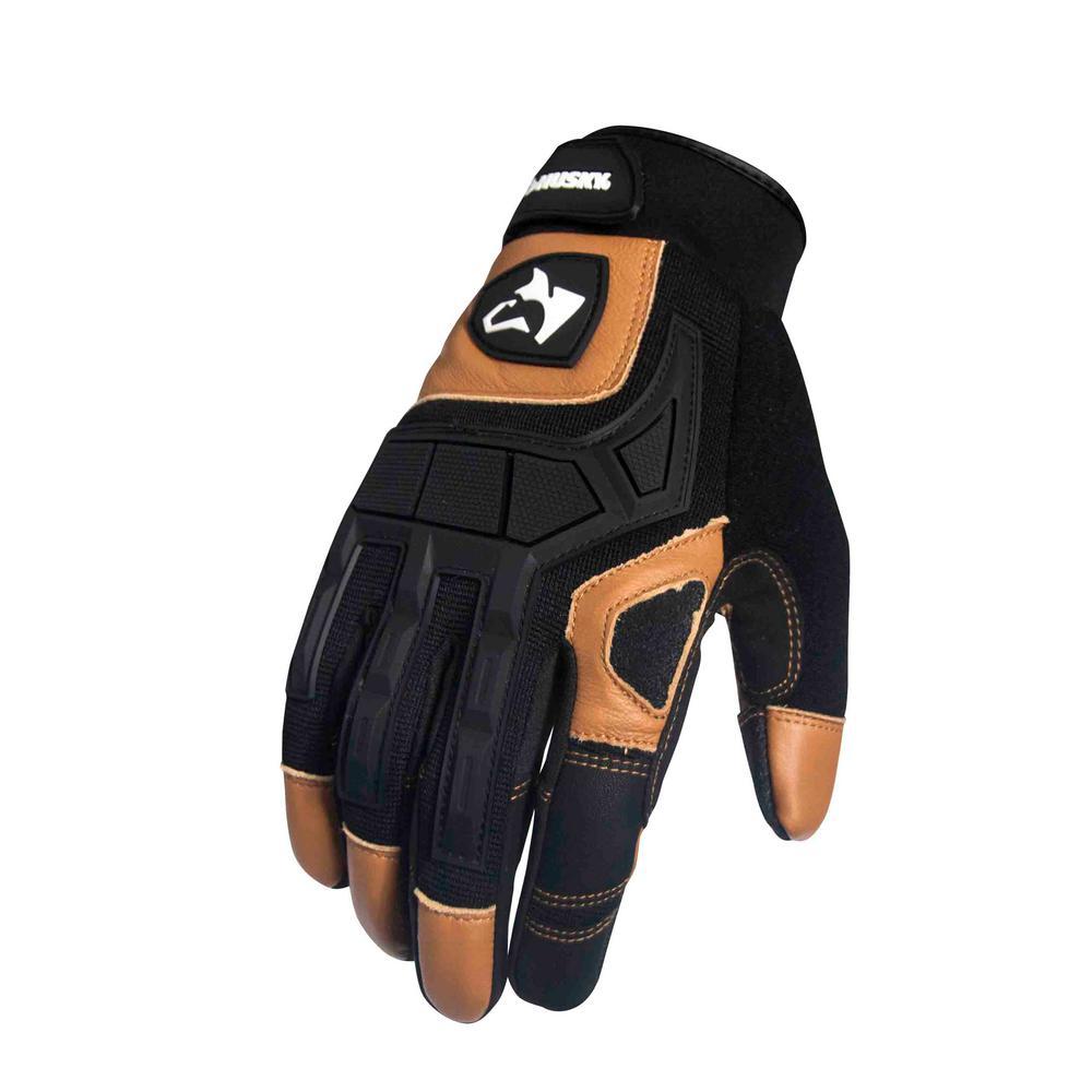 husky large xtreme duty mechanic goat leather glove 2 pack ga8734