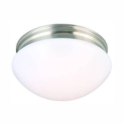 "AFX Lighting 14/"" Contemporary Ceiling Light Mushroom Style Cloud White Finish"