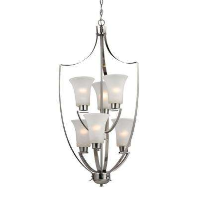Foyer Collection 6-Light Brushed Nickel Chandelier