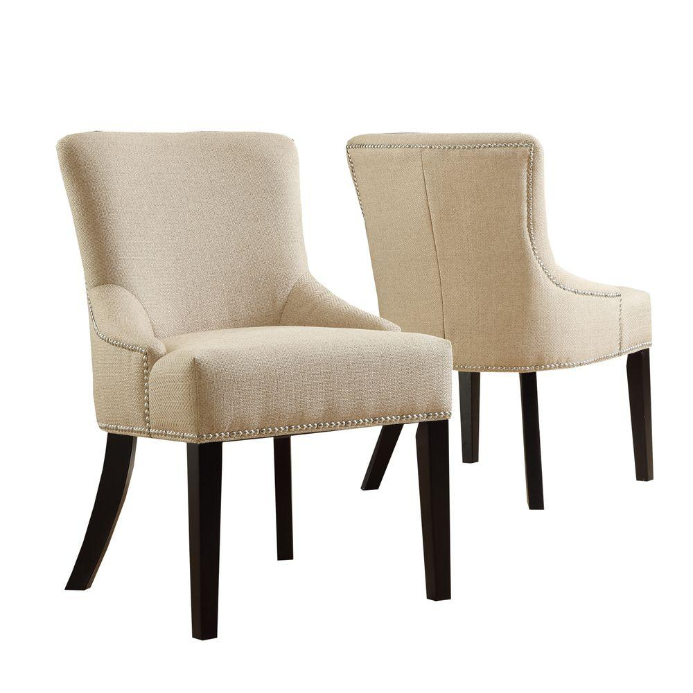 null HomeSullivan 2-piece Nailhead Accent Side Chairs-DISCONTINUED