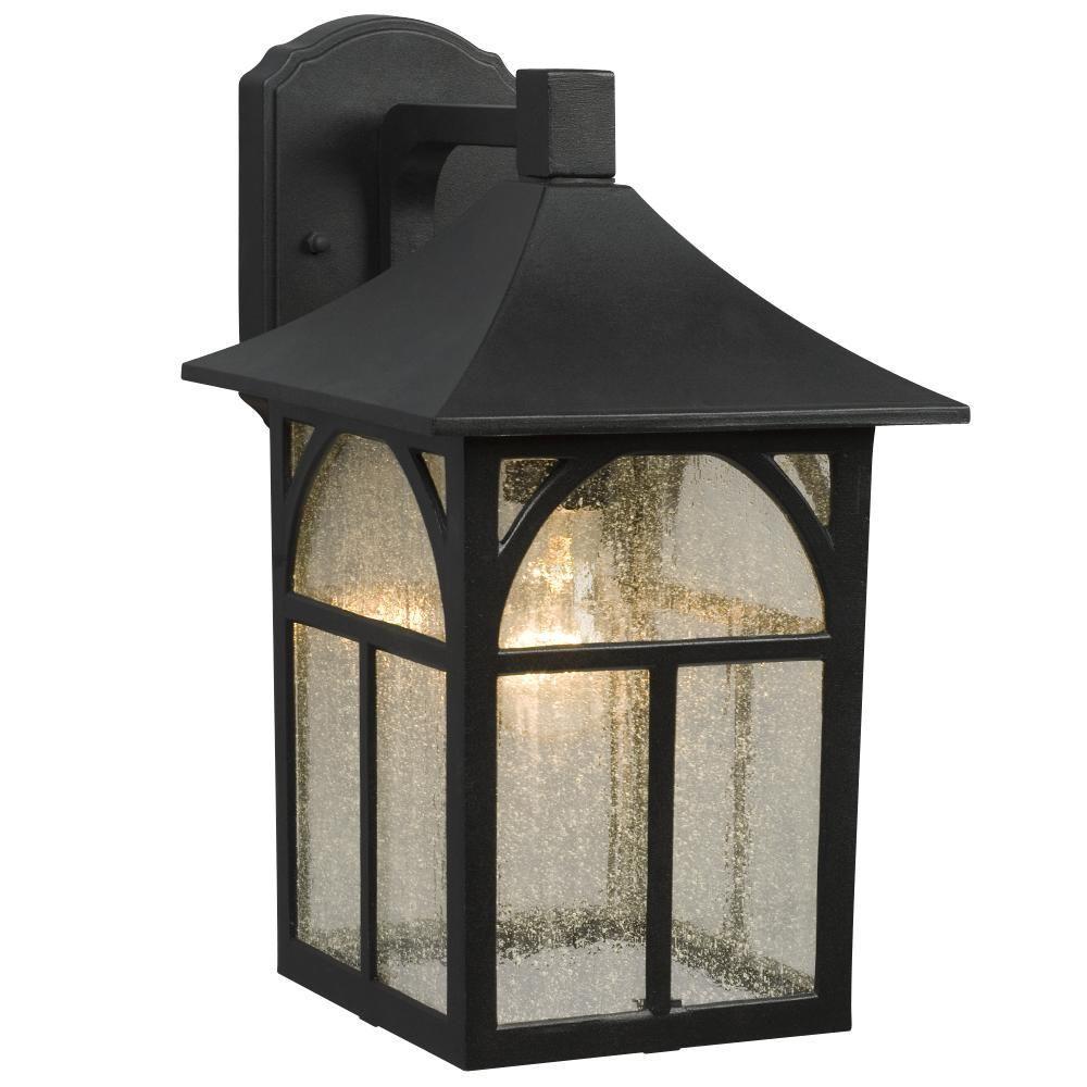 Negron 1-Light Outdoor Black Wall Lantern