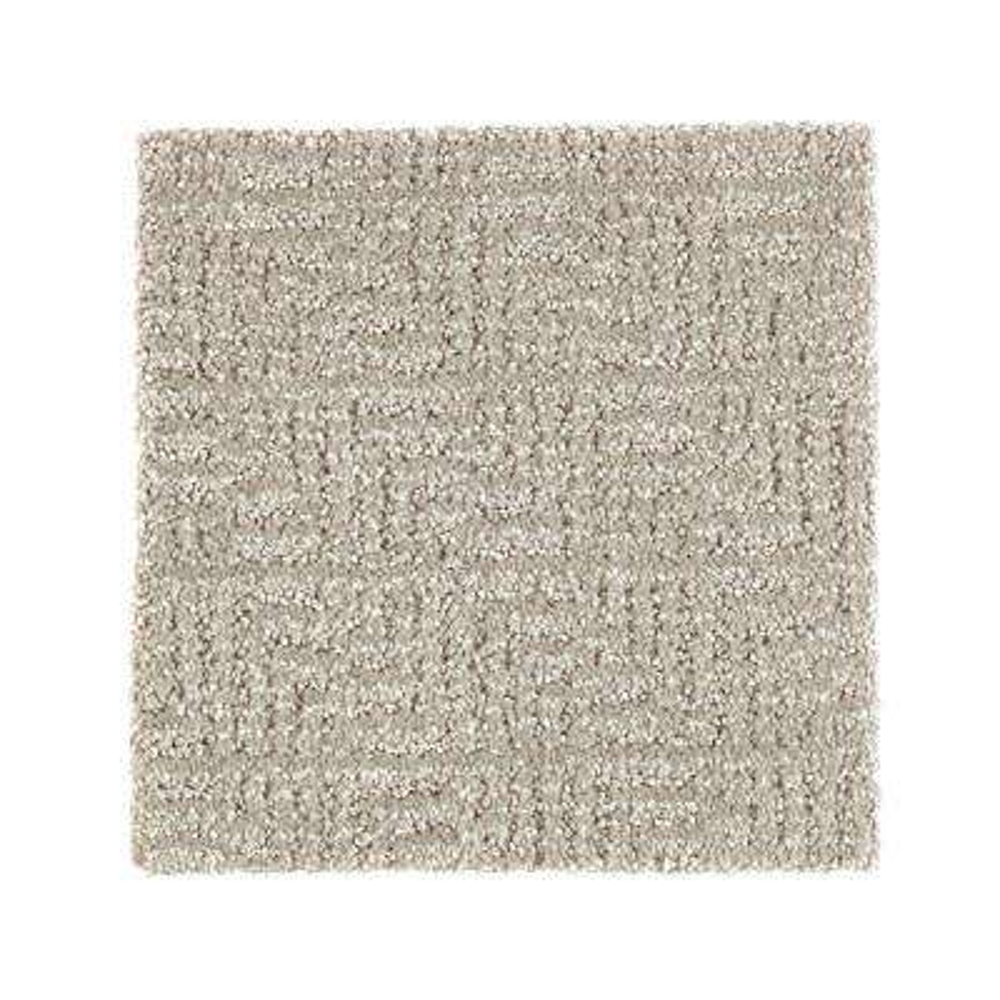 Carpet Sample - Scarlet - Color Meandering Pattern 8 in. x 8 in.