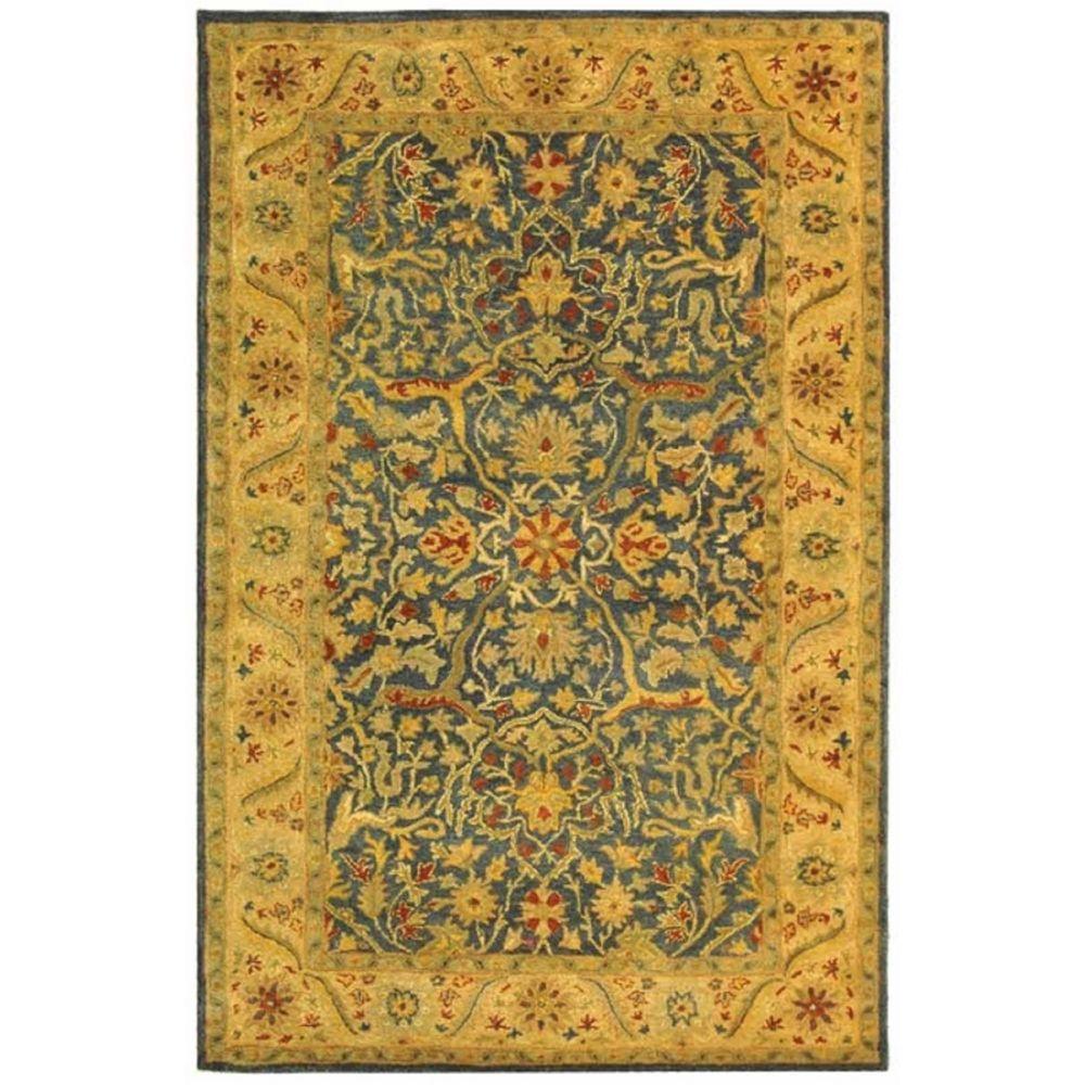 safavieh antiquity blue 6 ft x 9 ft area rug at14e 6. Black Bedroom Furniture Sets. Home Design Ideas