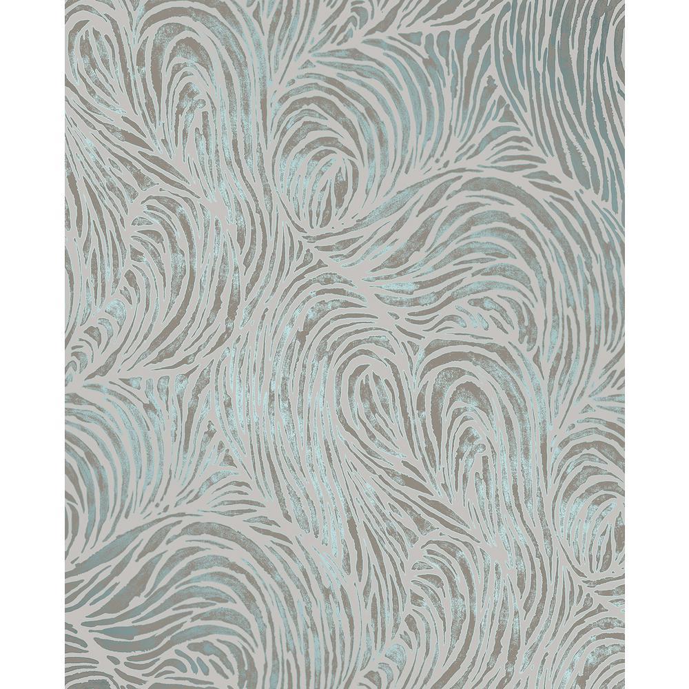 Andie Teal Swirl Wallpaper