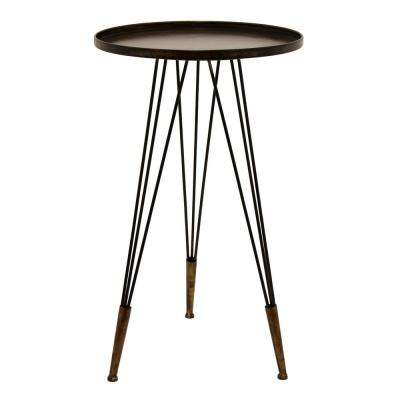 16.5 in. x 16.5 in. Bronze Metal Accent Table