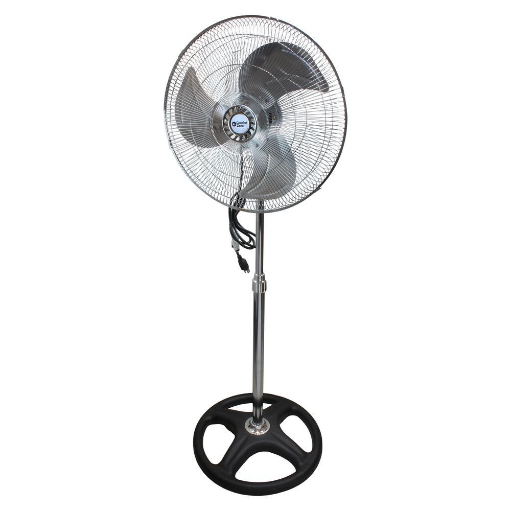 18 in. High-Velocity 3-Speed Industrial Oscillating Pedestal Fan with Adjustable Tilt