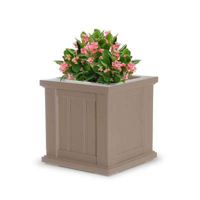 Cape Cod 14 in. Square Clay Plastic Planter