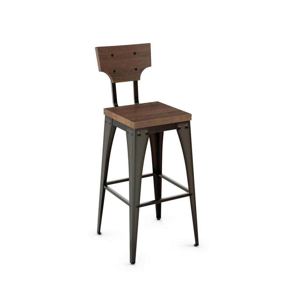 Brilliant Station 26 In Semi Transparent Metal Grey Wood Counter Stool Theyellowbook Wood Chair Design Ideas Theyellowbookinfo