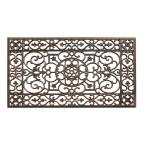 A1HC Beautifully Hand Finished, Bronze 24 in. x 36 in. Rubber, Anti-Slip and Durable, All Weather Outdoor/Indoor Doormat