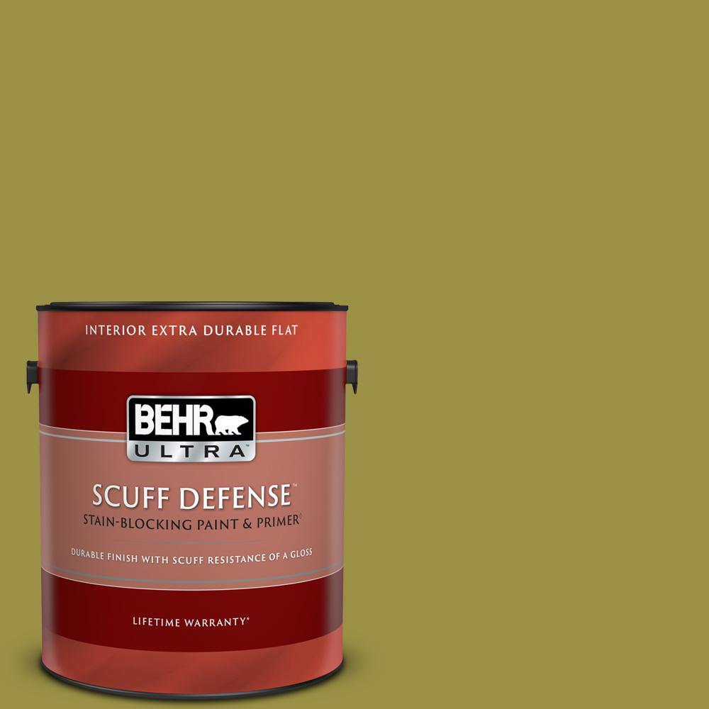 Behr Ultra 1 Gal Home Decorators Collection Hdc Fl13 8 Tangy Dill Extra Durable Flat Interior Paint And Primer 172301 The Home Depot