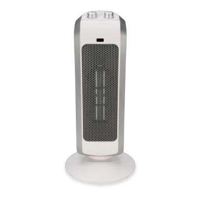 19 in. 1500-Watt Ceramic Mini Tower Heater - White