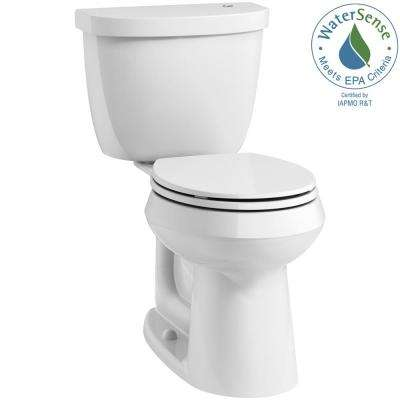 Cimarron Touchless Comfort Height Complete Solution 2-Piece 1.28 GPF Single Flush Round Toilet with AquaPiston in White