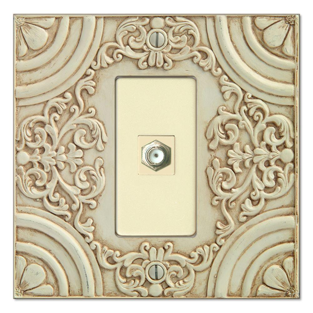 Creative Accents Canterbury 1 Video Wall Plate - White