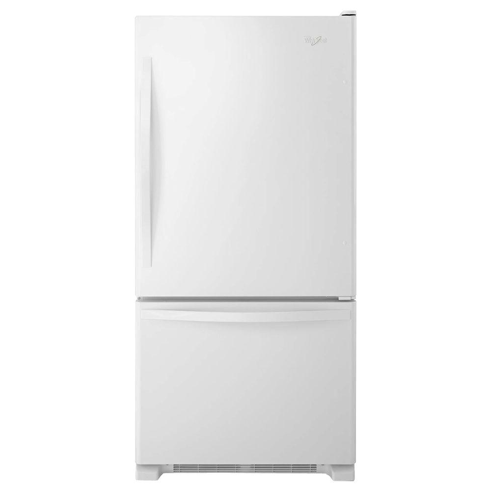 Whirlpool 33 in. W 22.1 cu. ft. Bottom Freezer Refrigerator in White