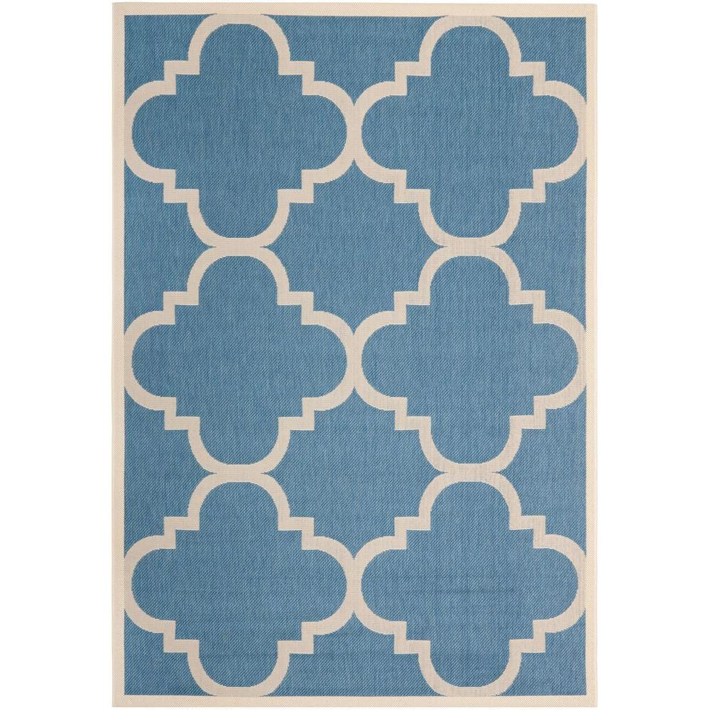 Safavieh Courtyard Blue Beige 8 Ft X 11 Ft Indoor