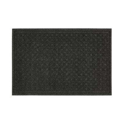Textures Blocks Onyx 24 In. X 36 In. Impressions Door Mat