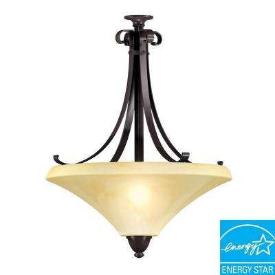 Swain 3-Light Oil-Rubbed Bronze Large Pendant