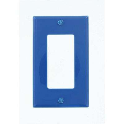 1-Gang Decora Nylon Wall Plate, Dark Blue