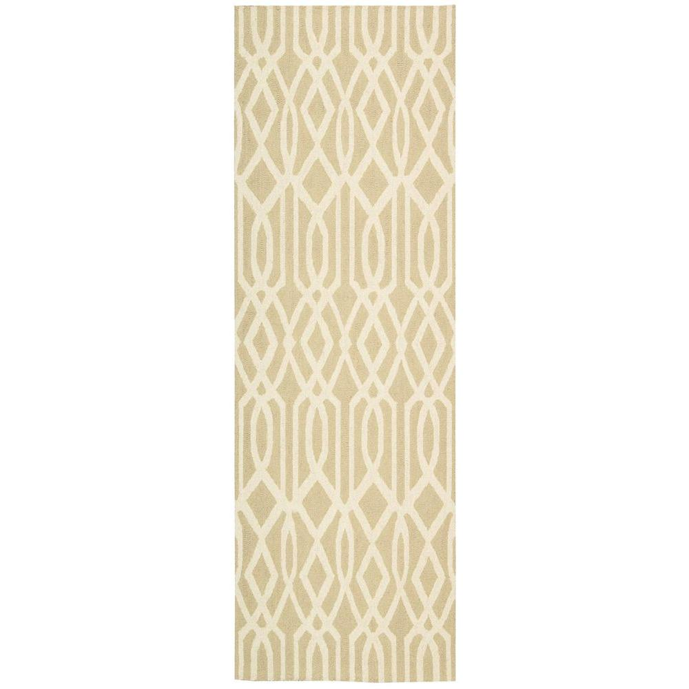 Nourison Linear Sand Ivory 2 Ft 3 In X 7 Ft 6 In Rug